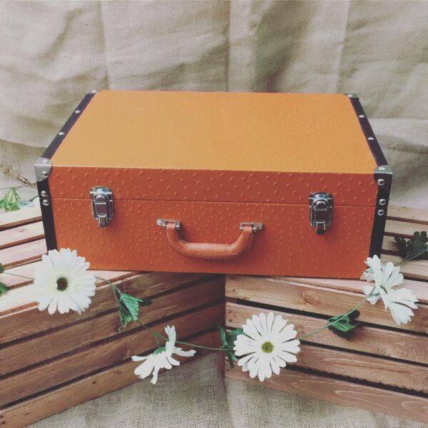 Orange Trunk Suitcase Luggage