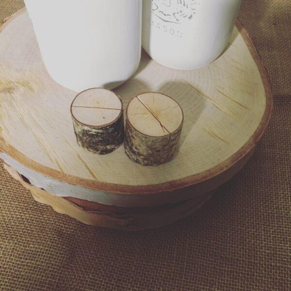 Mini Wooden Rustic Card Holders