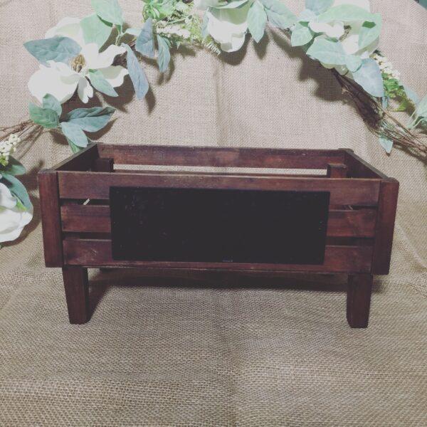 Dark Wooden Crate Rustic Chalk Board