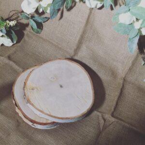 Round Birch Wooden Slabs