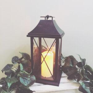 Ashley Classic Black Rustic Lantern