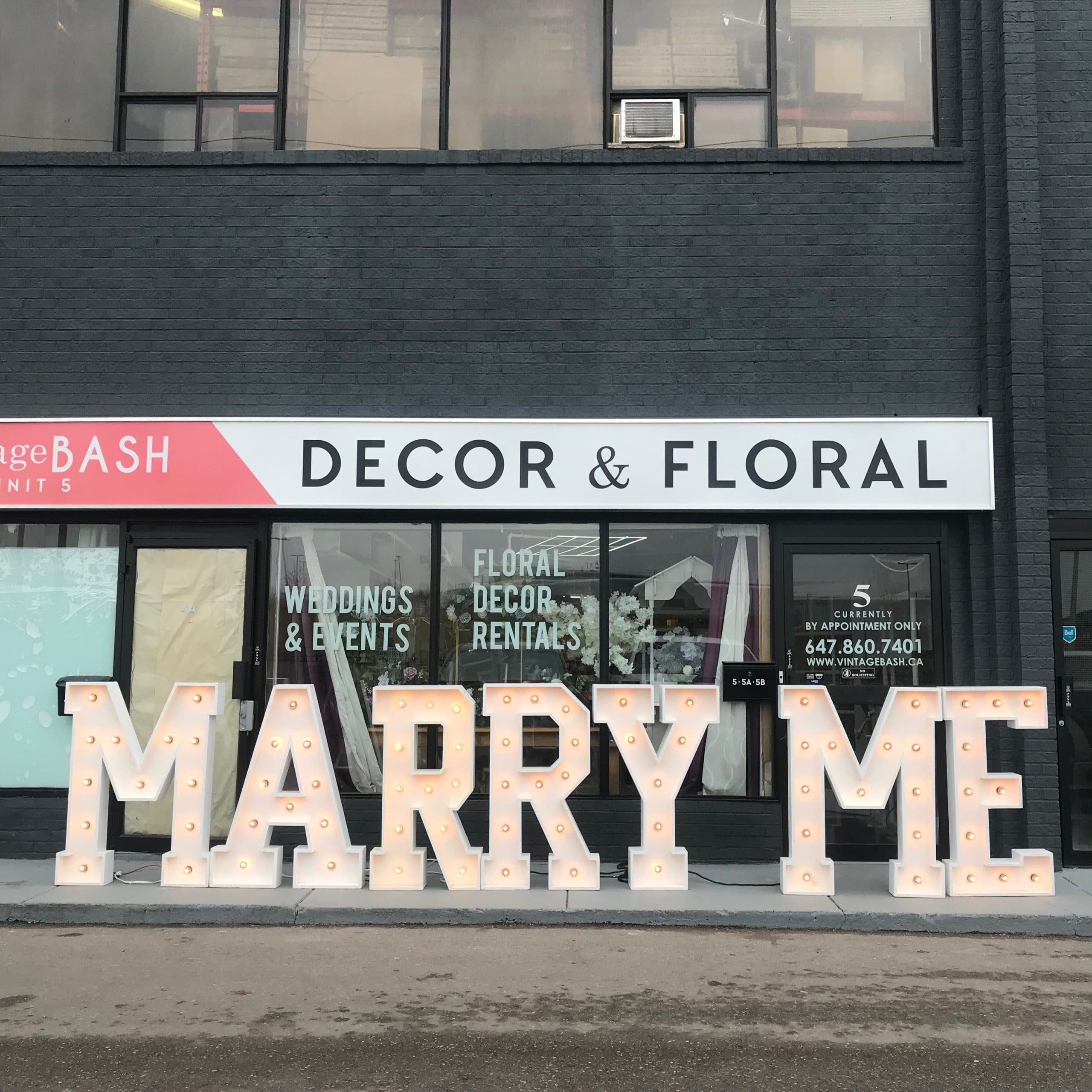 Huge Marry Me Marquee Letters