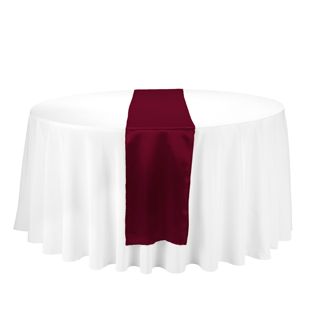Burgundy Satin Table Runner