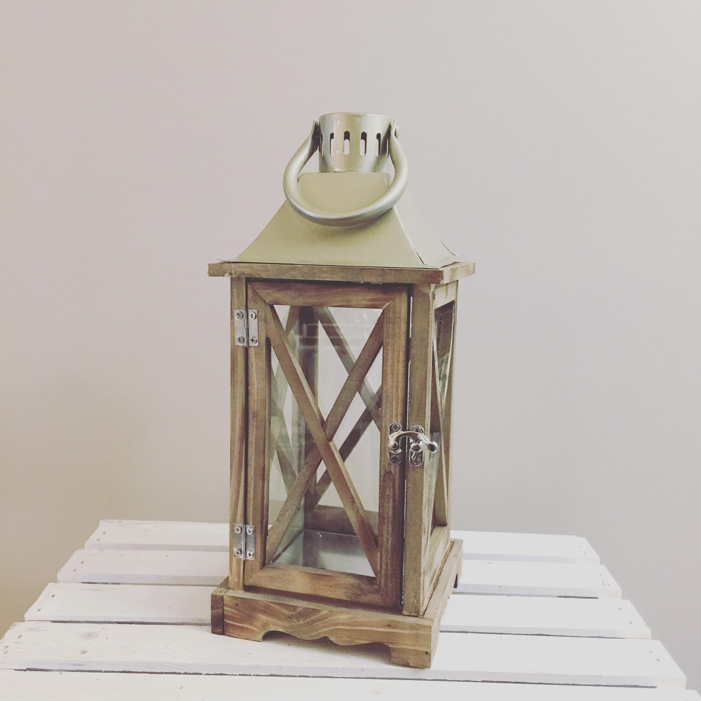 Gold Wooden Lantern