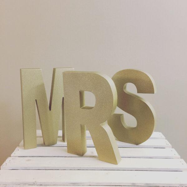 Gold Mr Mrs