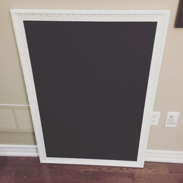 Large Freestand White Chalkboarc