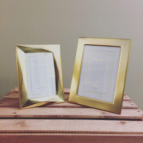Taylor Gold Frame (Table Number Frames) Rental | VintageBash