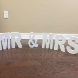 Mr & Mrs White Letters