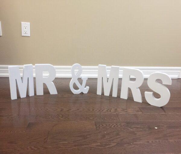 Mr & Mrs White Letters