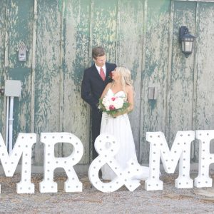Huge Mr & Mrs Marquee Letters