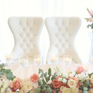 King and Queen Chair White