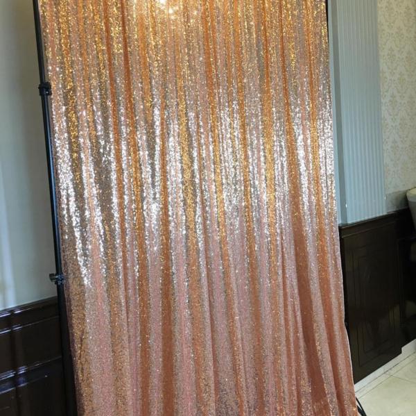 Rose Gold Sequin Backdrop
