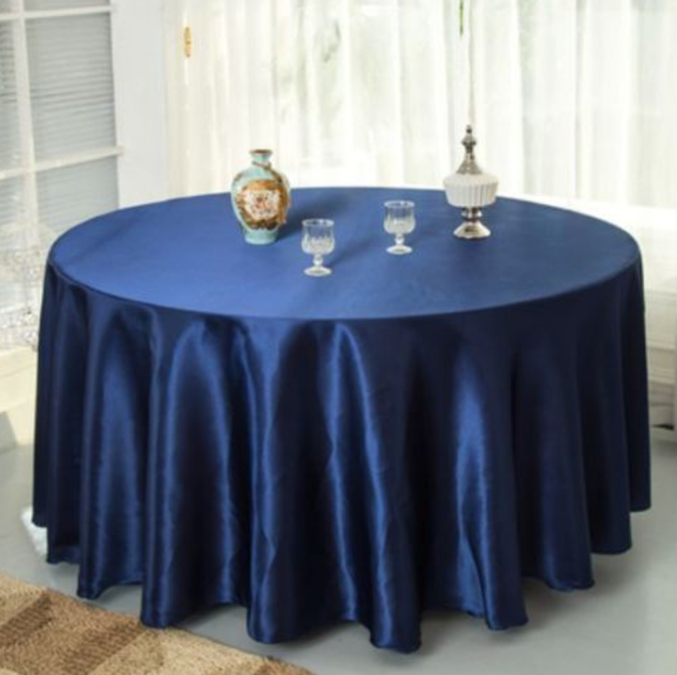 Navy Blue Tablecloth Rental