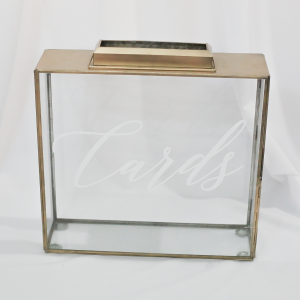 Natashia Terrarium Gold Card Box