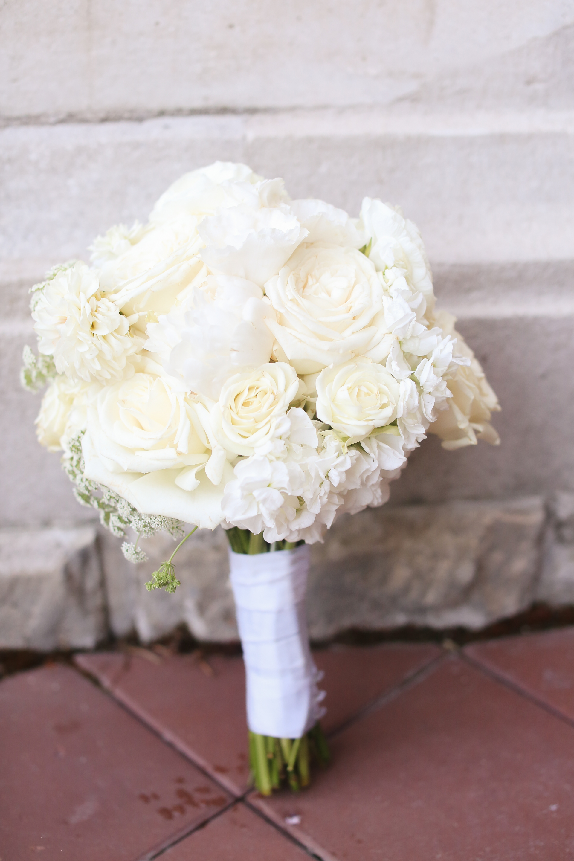 White Bouquet Bride Wedding