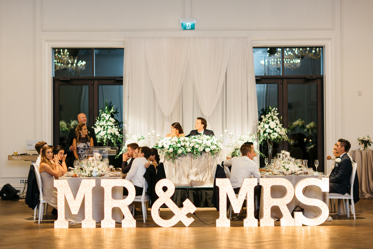 MR MRS Marquee Letter