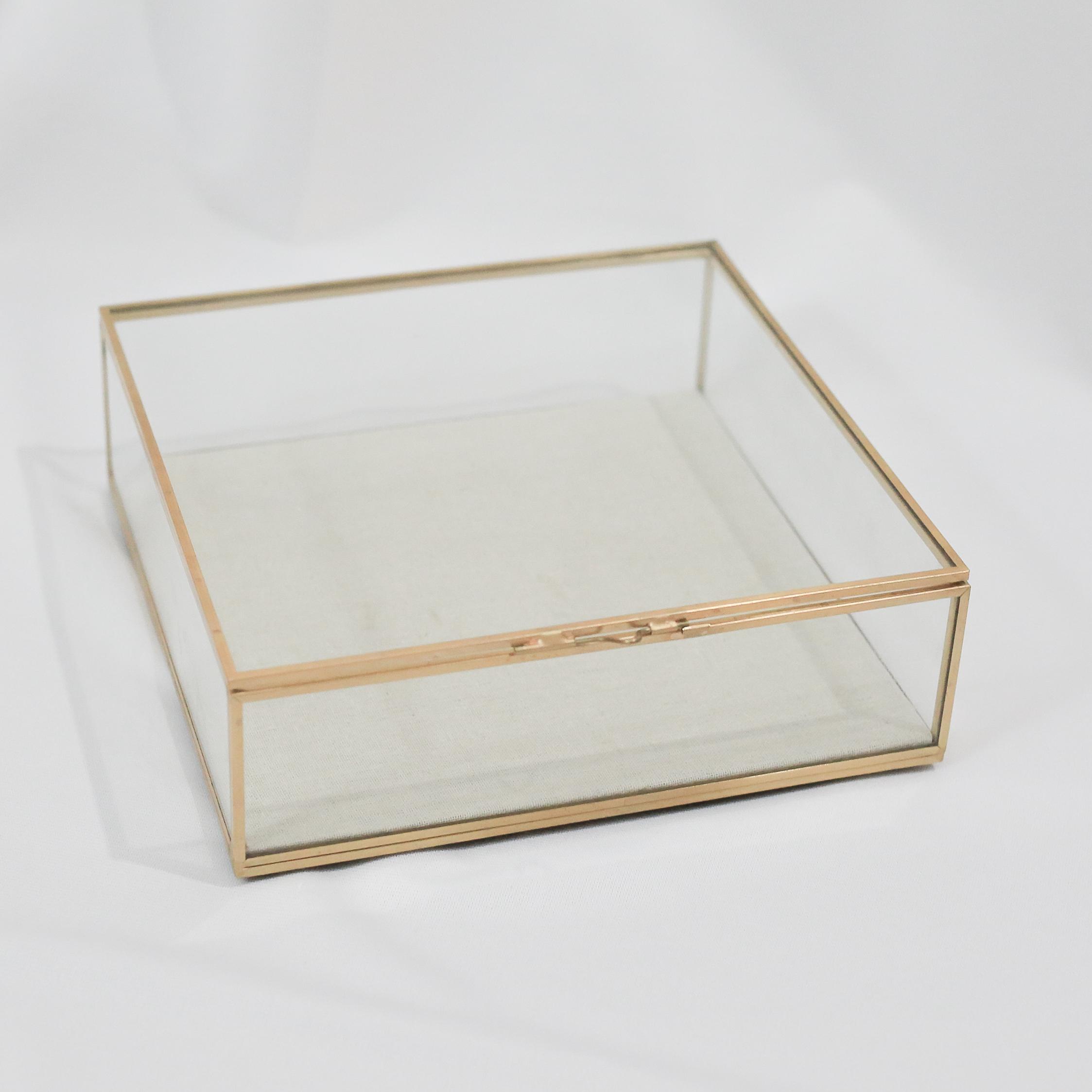 Amore Gold Glass Box Terrarium