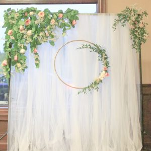 Wedding Backdrop Inspiration Greenery Rustic Outdoor