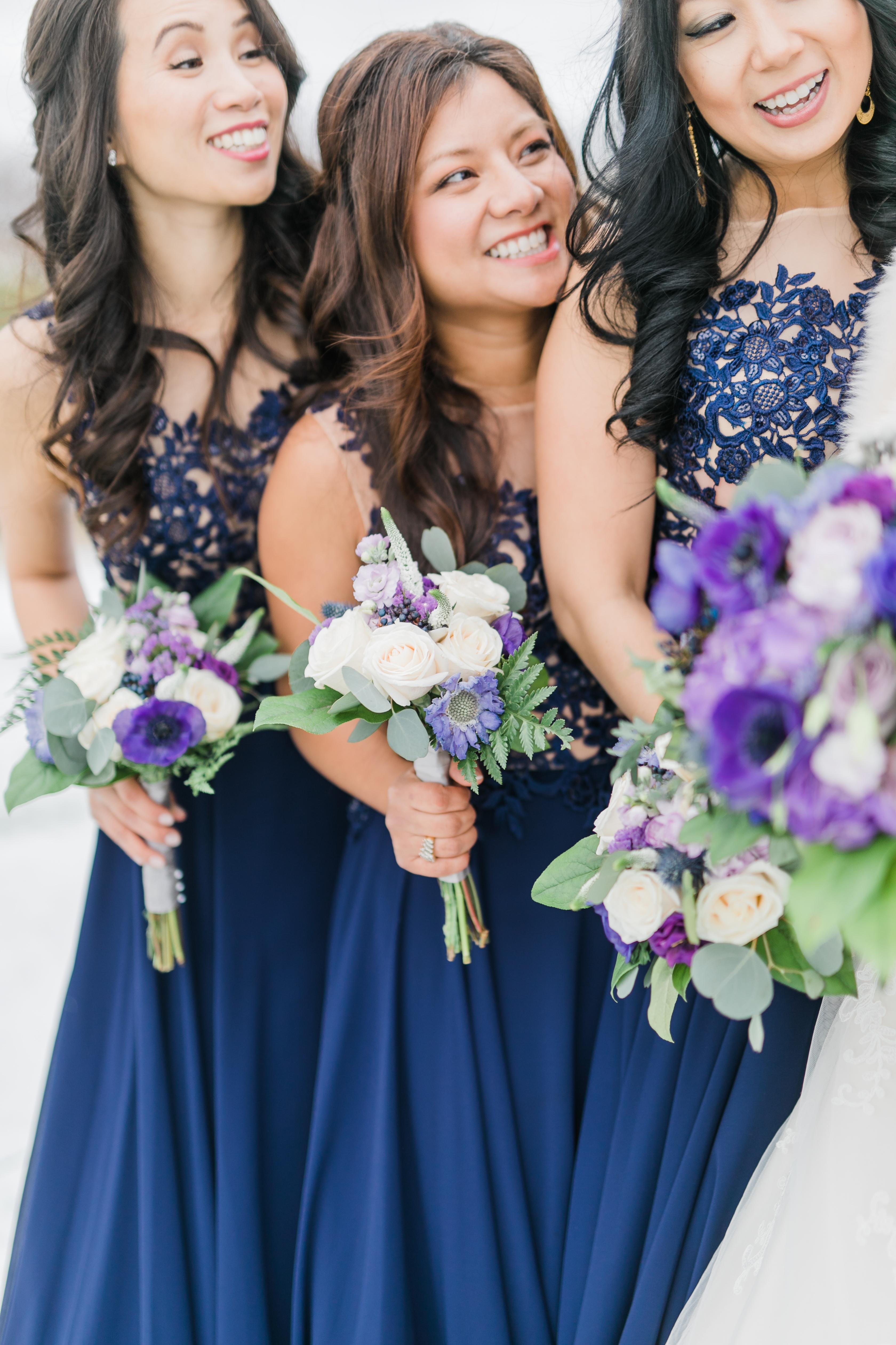 Lavender, Purple + Navy Blue Wedding Inspiration   VintageBash