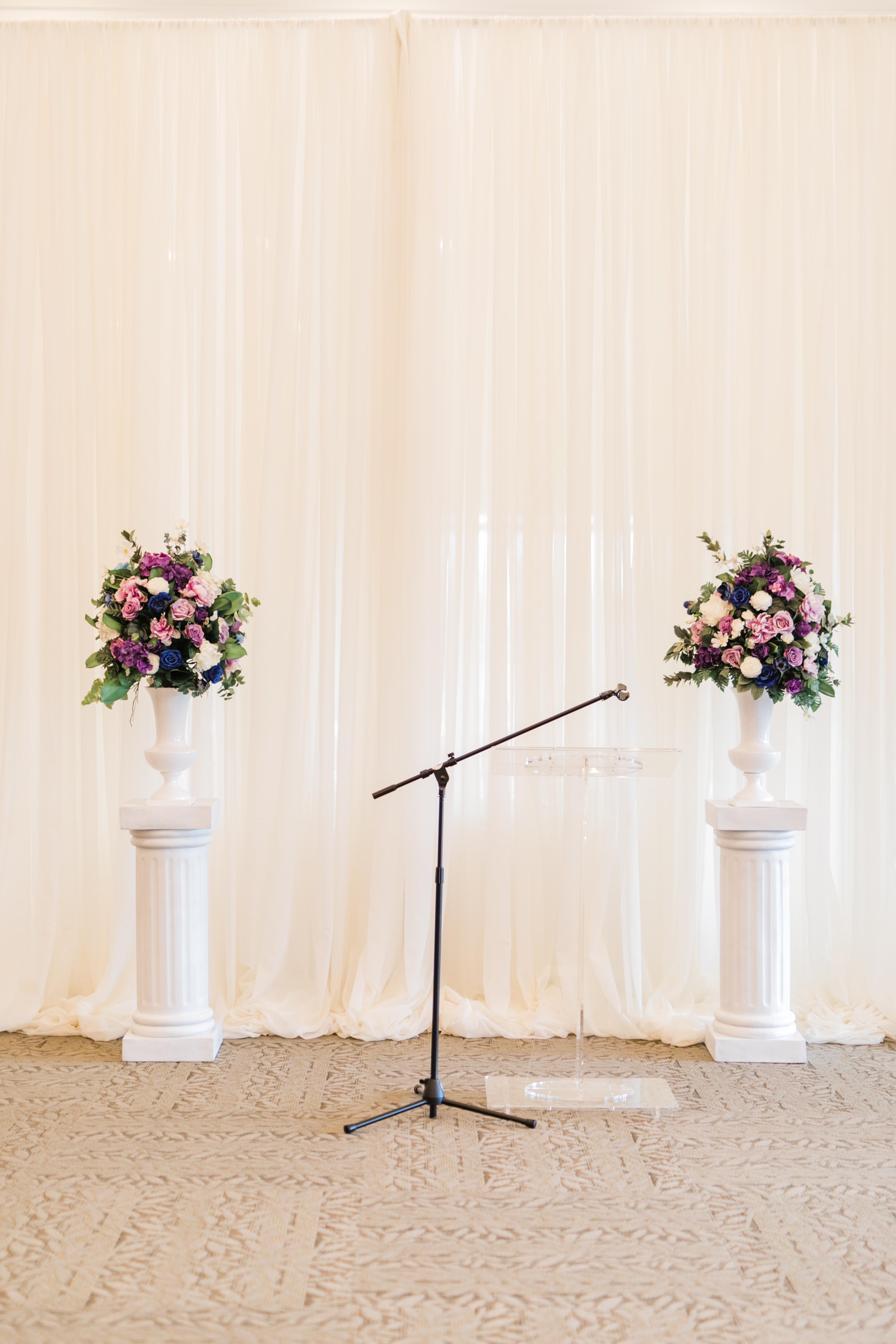 Lavender, Purple + Navy Blue Wedding Inspiration | VintageBash