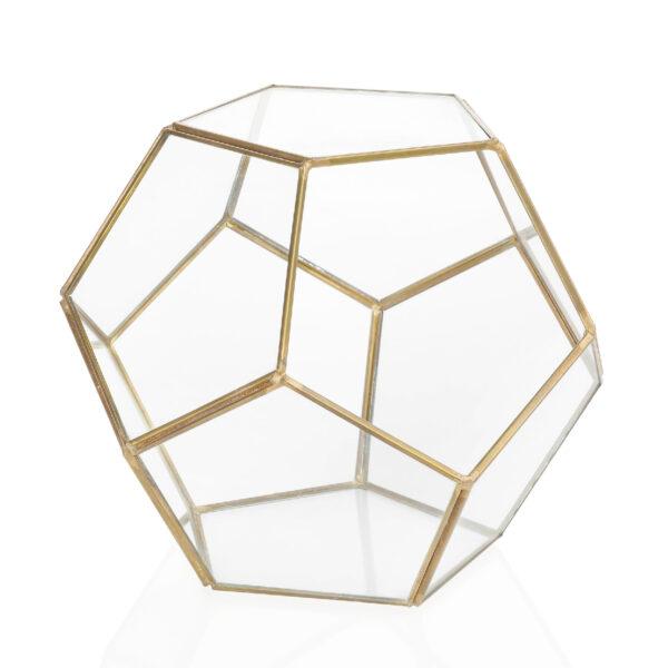 Gold Terrarium Centrepiece Candle Holder Rental Toronto