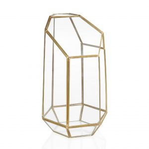 High Gold Terrarium Centrepiece Candle Holder Rental Toronto
