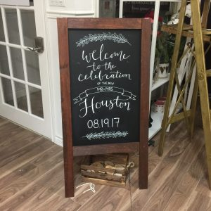 Wooden Rustic Chalkboard For Rent Blackboard