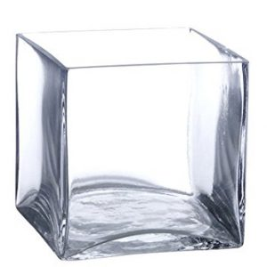 Square Clear Vase
