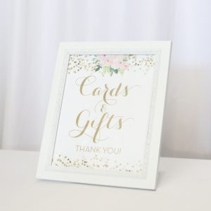 Cards & Gifts Sign Blush & Pink, Gold