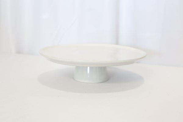 "13"" White cake stand Rental"