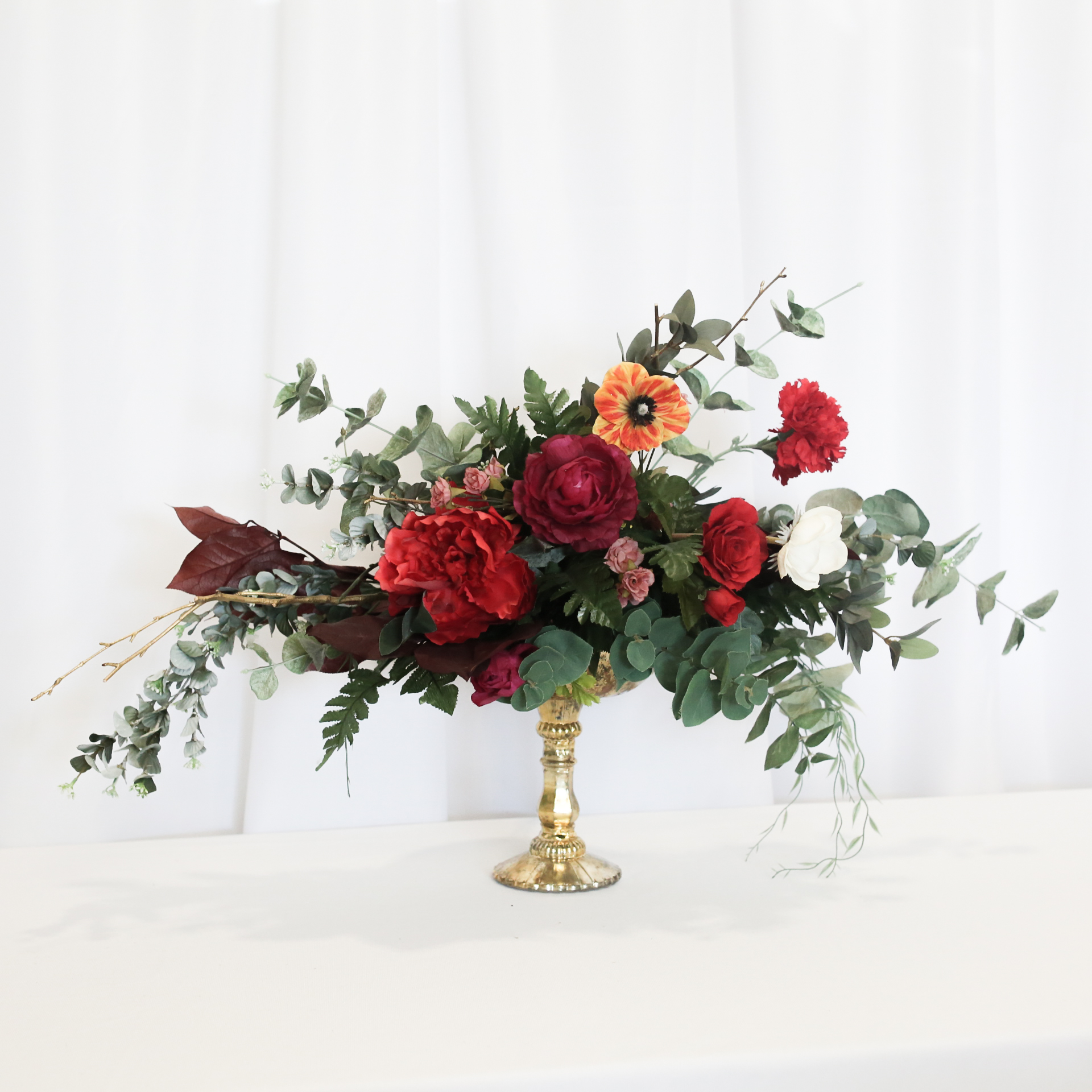 Anasia flower arrangement centrepiece rental vintagebash