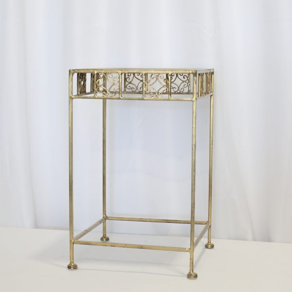 Gold End Table