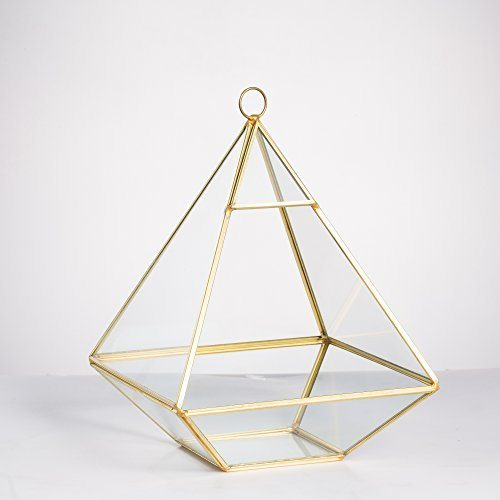 Pyramid Glass Geometric Gold