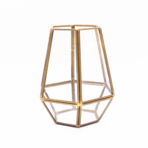 geometric gold terrarium