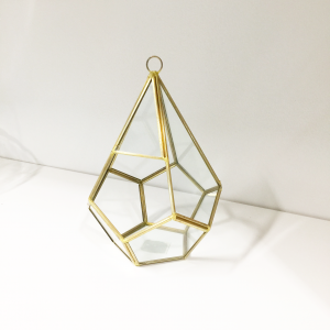 Small Diamond Gold Terrarium Geometric
