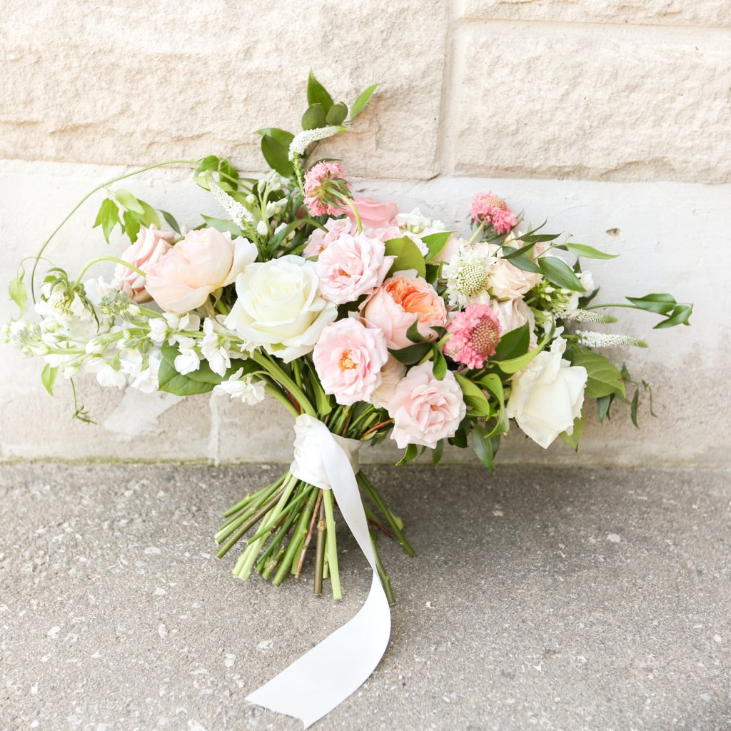 Boho Pink, Blush & Peach Combo Bride Bouquet