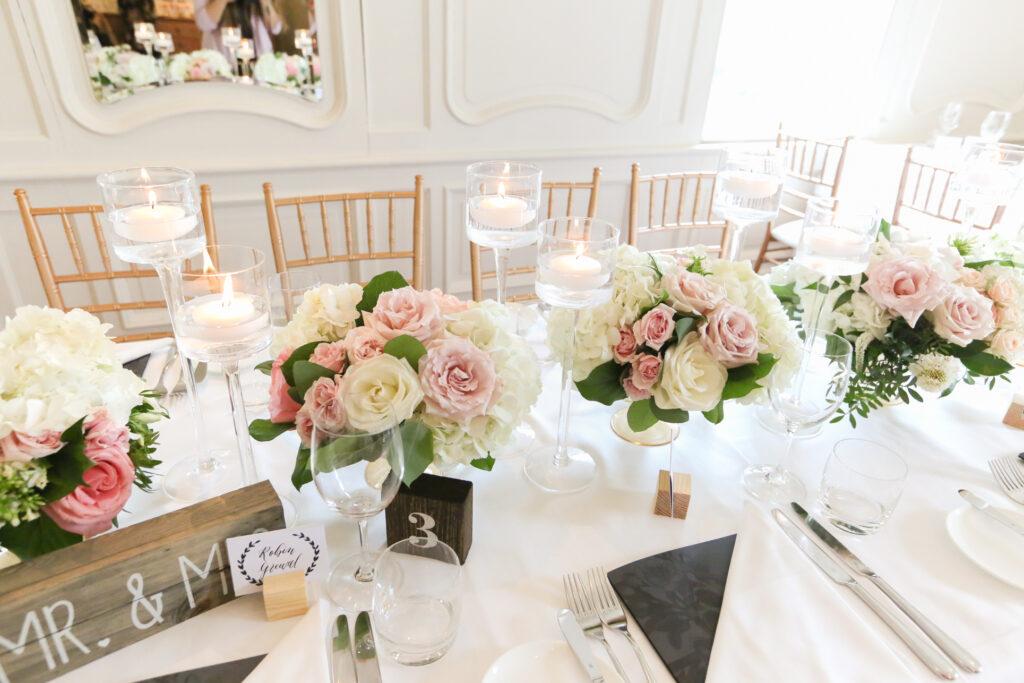 Thomas & Karen: Blush Pink & Peach Wedding at the Auberge du Pommier
