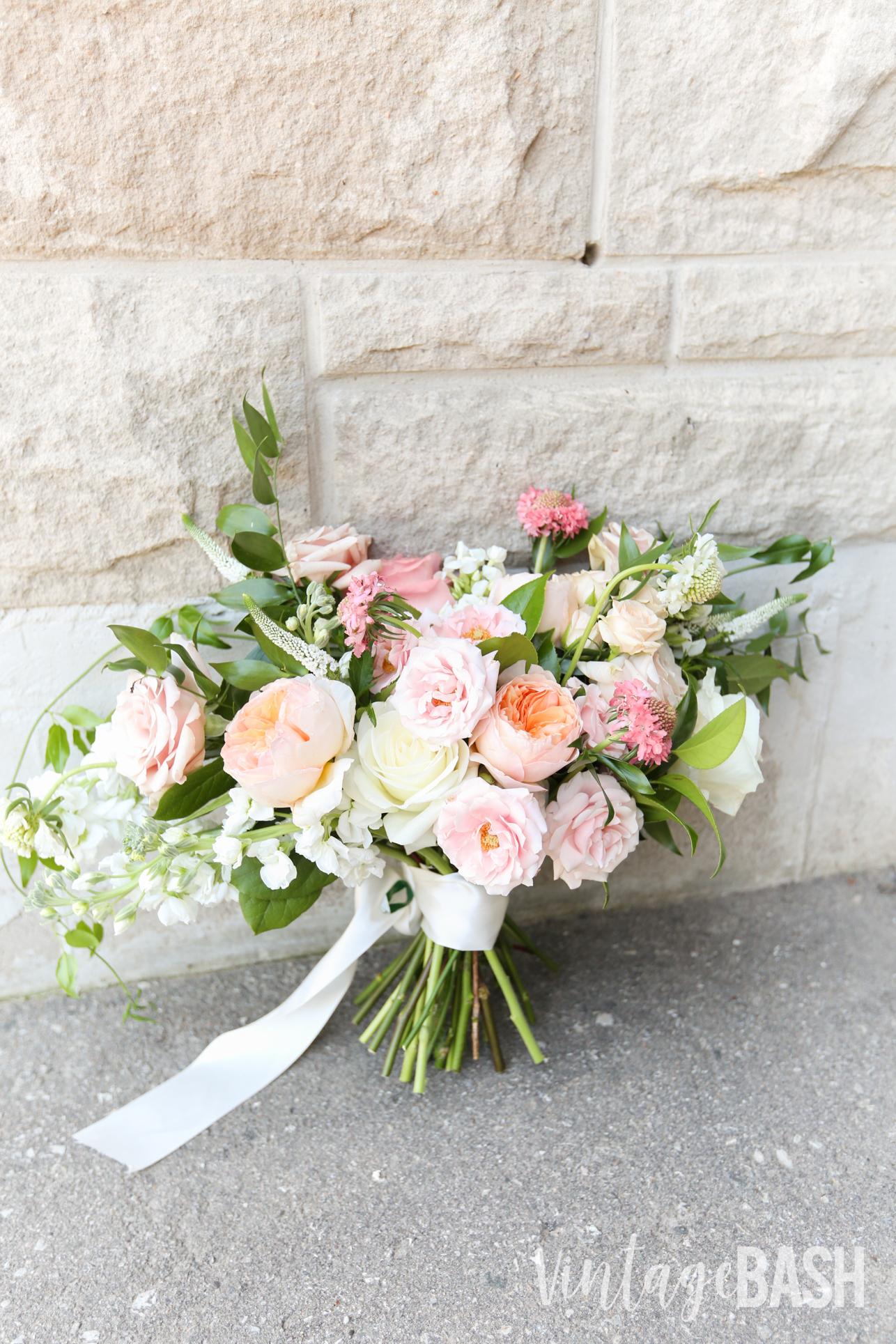 Blush Wedding Bouquet Peach Vintagebash