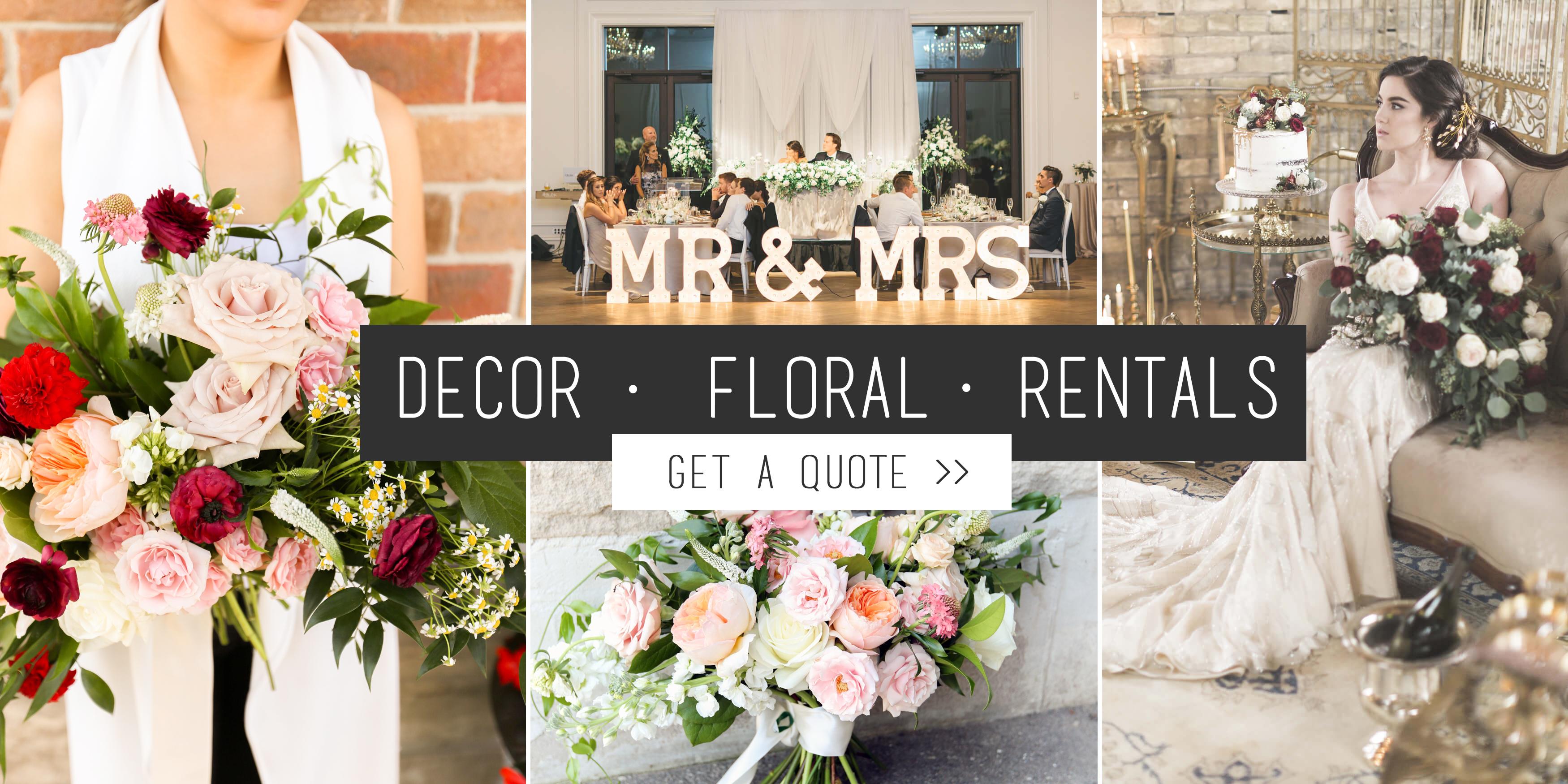 Toronto Florist Decorator Event Rentals Events Weddings Gta