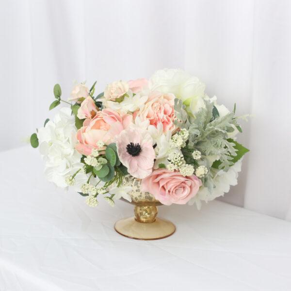 Blush Flower Arrangement Silk Wedding