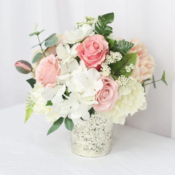 Blush & White Centerpiece For Rent Silk
