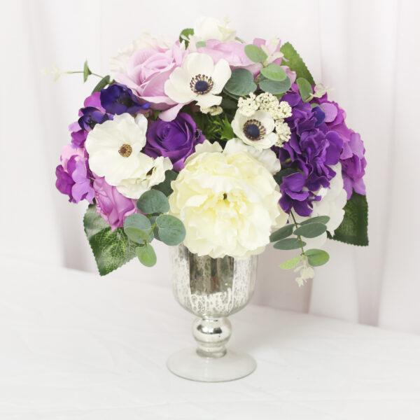 purple lilac centerpiece violet