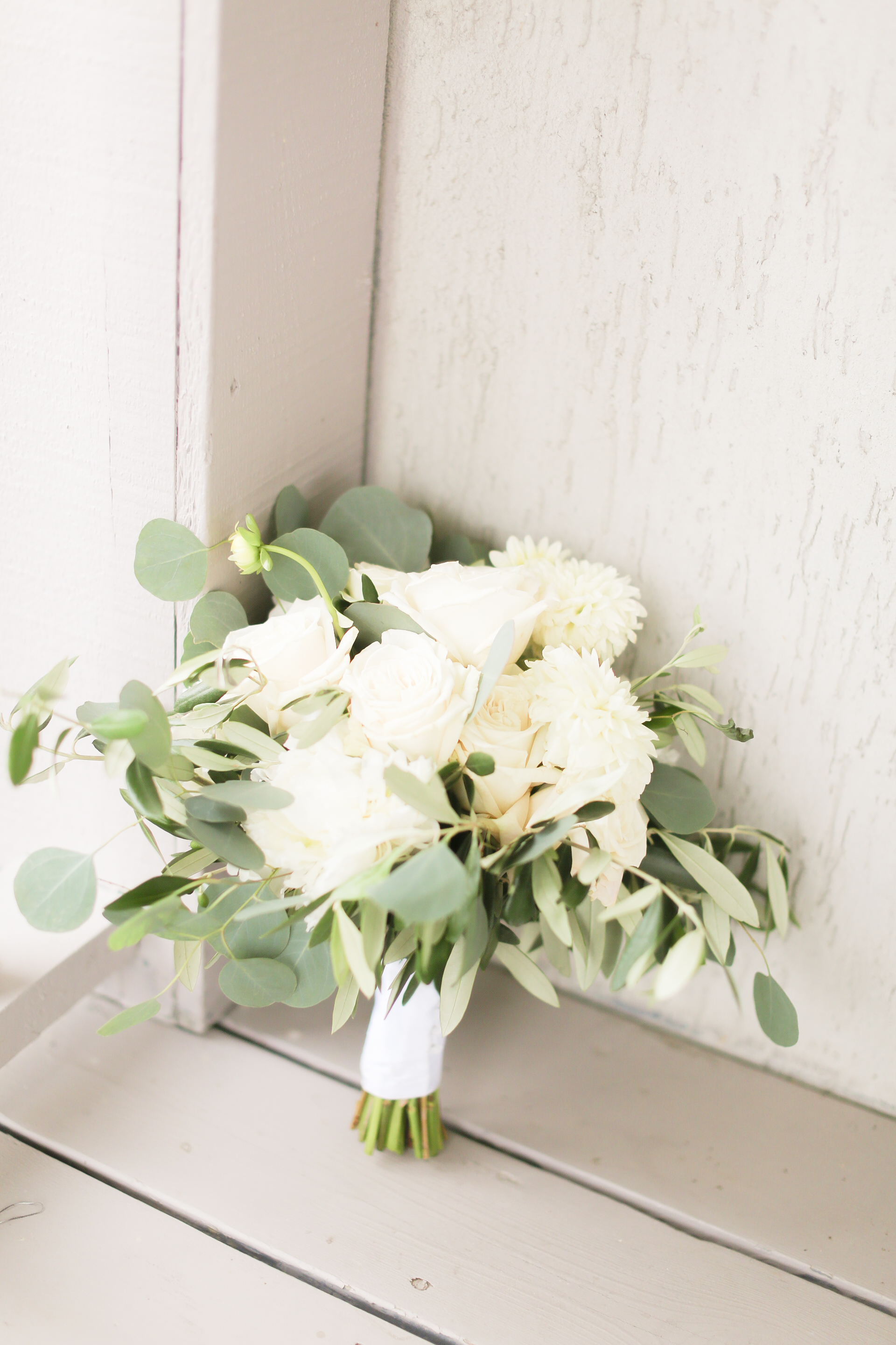 Mantel Greenery Wedding Arrangement