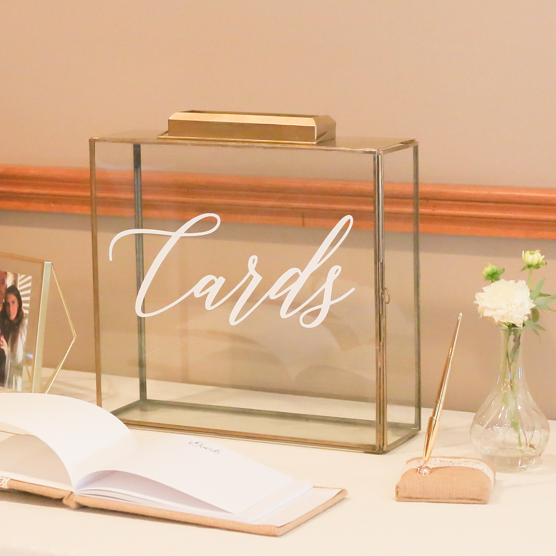 Gold Rimmed Card Gift Box Wedding