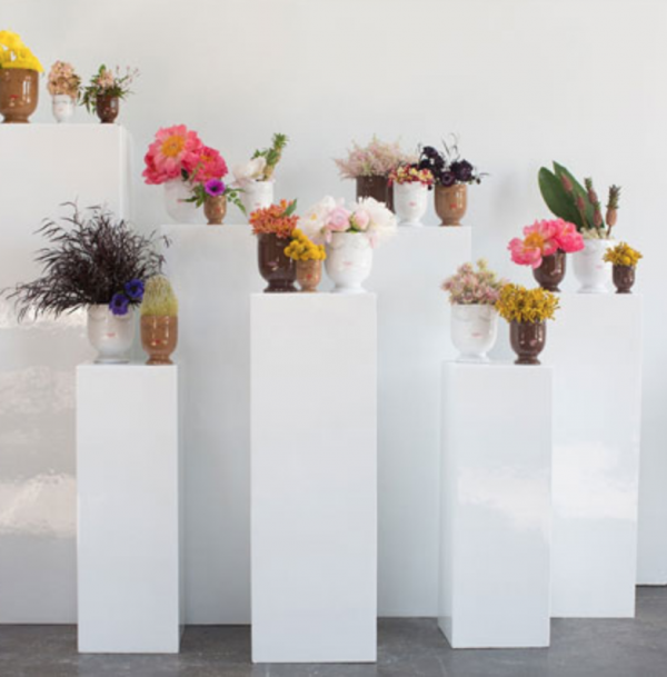 White Column Pedestal Rental Solid