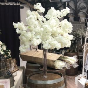 White Cherry Blossom Centerpiece Wedding