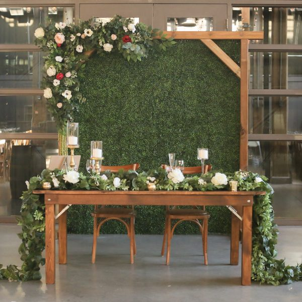 Rustic Setup Backdrop Wooden Arch