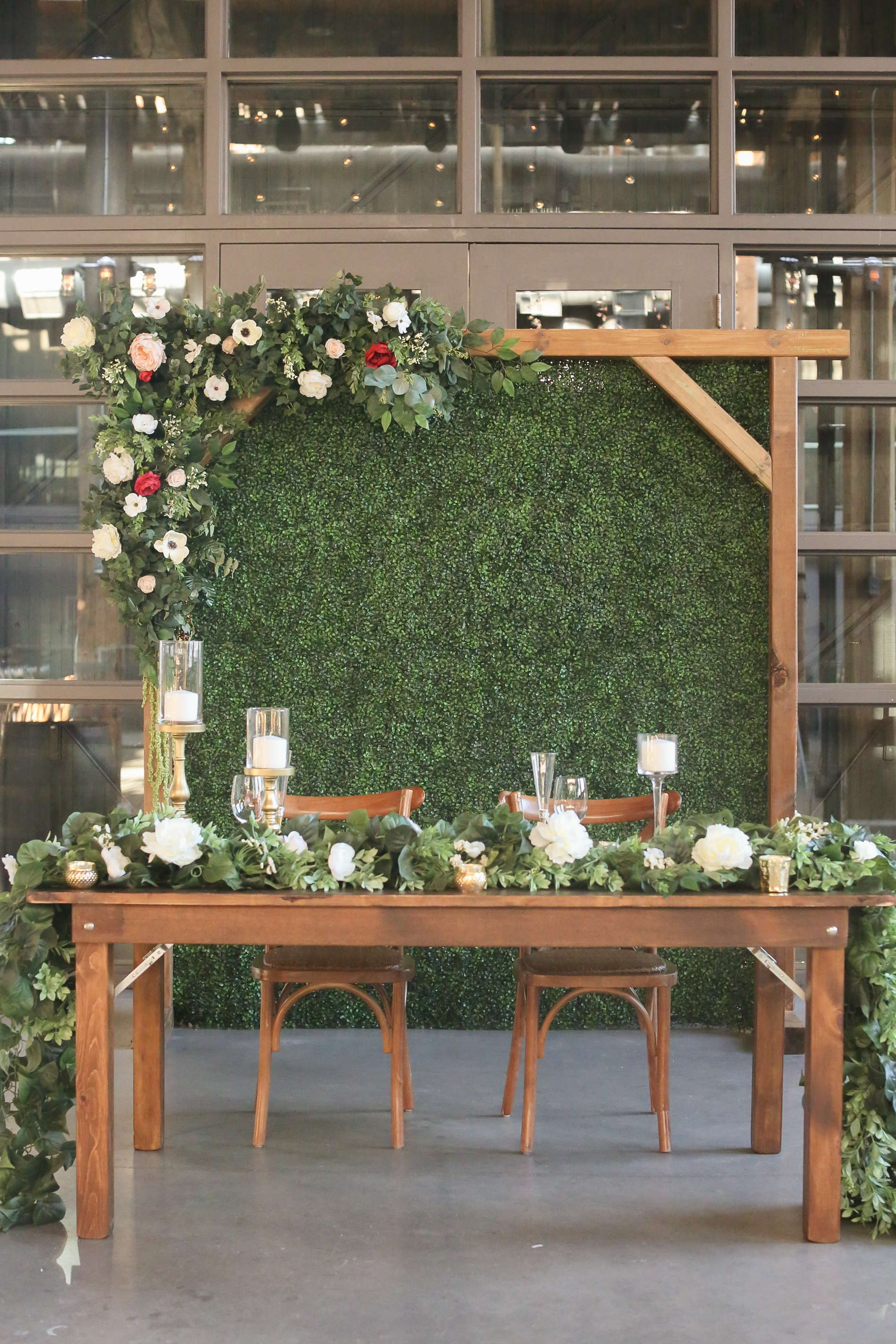 Rustic Backdrop Wooden Arch