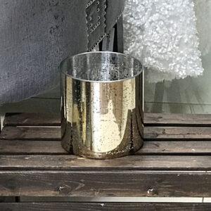 Charlie Gold Cylinder Mercury Vase