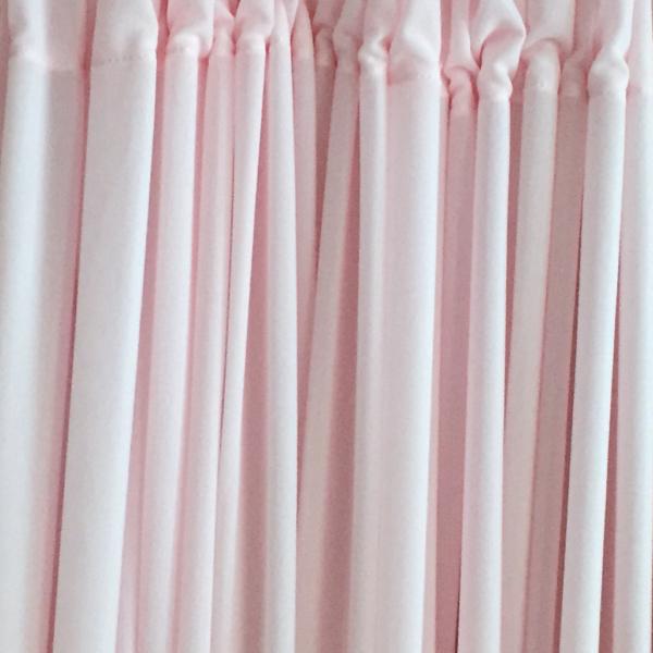 Joan Coral Pink drapes